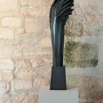 Tête pensante, 2008, granit d'Inde, 135 x 35 x 20 cm