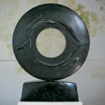 La mémoire et la mer, 2006, granit d'Inde, ∅ 80 cm