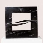 Petit dialogue, 2001, granit d'Inde, 50 x 50 x 10 cm