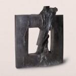 La mémoire et la mer, 2001, bronze, 57 x 49 x 10 cm