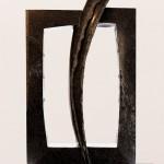 Porte pour un ange, 1999, serpentine, 110 x 60 x 18 cm