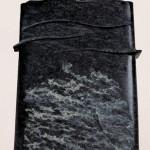 La mémoire et la mer, 1999, diabas, 60 x 40 x 12 cm
