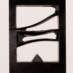 Entre ciel et terre, 1999, granit d'Inde, 75 x 55 x 10 cm
