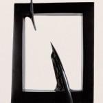 Dialogue avec l'ange, 1999, granit d'Inde, 76 x 53 x 10 cm
