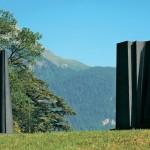 Les amants 4 - Monolithe, 2008, granit d'Inde, 275 x 150 x 100 cm