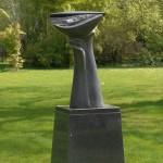 Tête pensante, granit d'Afrique, 97 x 54 x 40 cm