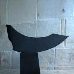 Barque au départ, granit d'Afrique, 148 x 180 x 25 cm