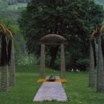 L'Abred, lave-acier-cuir-crin, 350 x 1700 x 400 cm