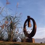 L'anneau, granit du Brésil, 275 x 155 x 100 cm