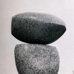Sans titre, 1974, granit du Mont-Blanc, 100 x 45 cm