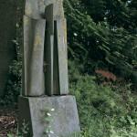 Stèle, grès, 175 x 52 x 50 cm