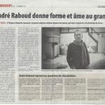 André Raboud donne forme et âme au granit- Gauchebdo - 19.02.2016