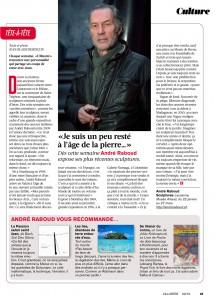 Tête à tête avec André Raboud - L'Illustré - mars 2016