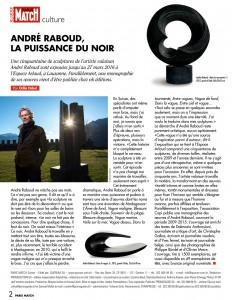 André Raboud, la puissance du noir - Paris Match