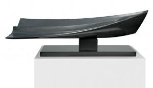 Barque en désespérance, Granit d'Inde, 2012, 39 x 110 x 35 cm