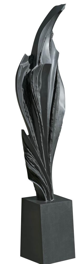 Dernière feuille avant l'orage, Granit d'Inde, 2013, 260 x 65 x 40 cm