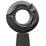 La mémoire et la mer, Bronze, 2007, 280 x ø 180 x 40 cm (avec socle en granit)